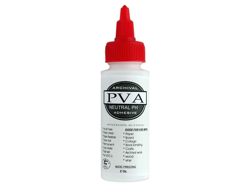 Tran Archival PVA Neutral PH Adhesive 2oz