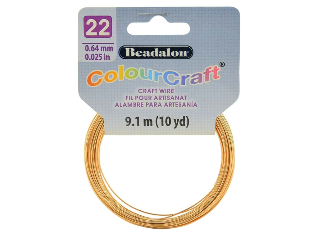 Beadalon ColourCraft Tarnish Resistant Copper Wire 22ga Gold 10yd