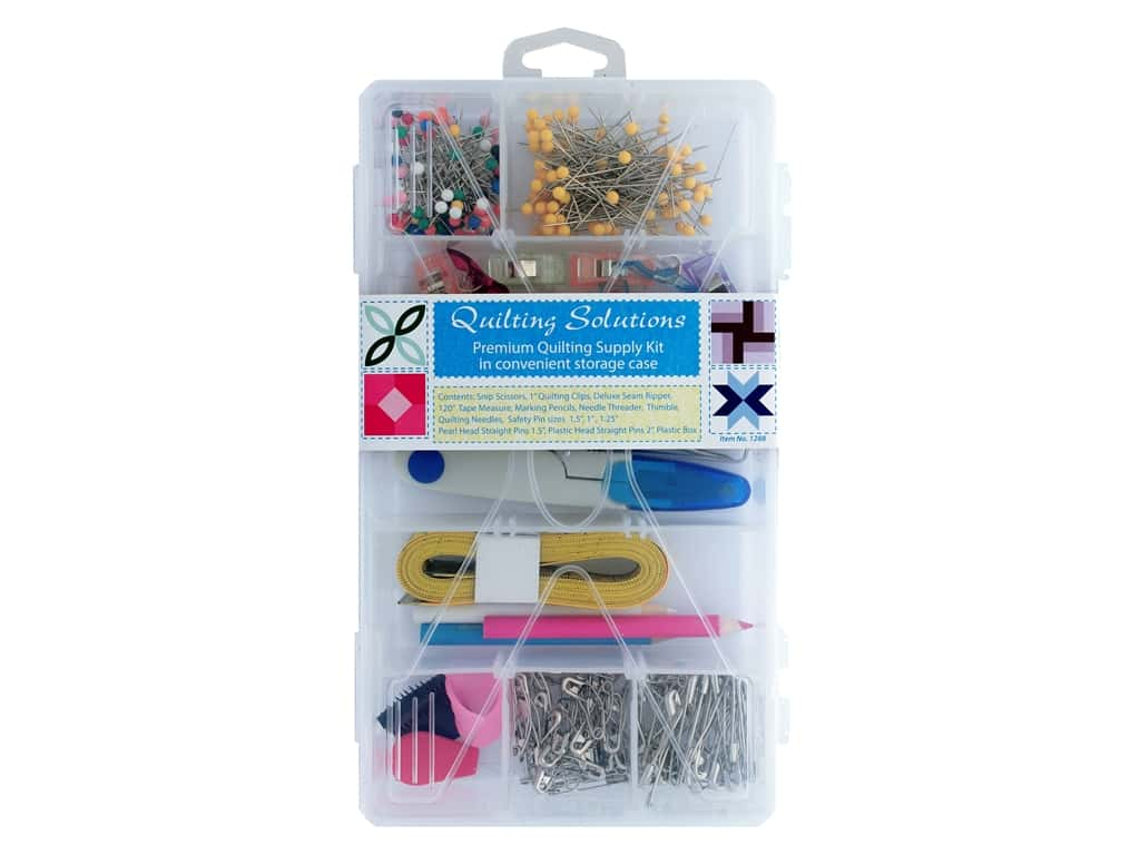 Allary Quilting Solutions Supply Kit With Storage Cox