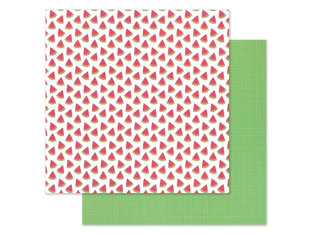 """Doodlebug Collection Bar-B Cute Paper 12""""x 12"""" Slice Of Summer (25 pieces)"""