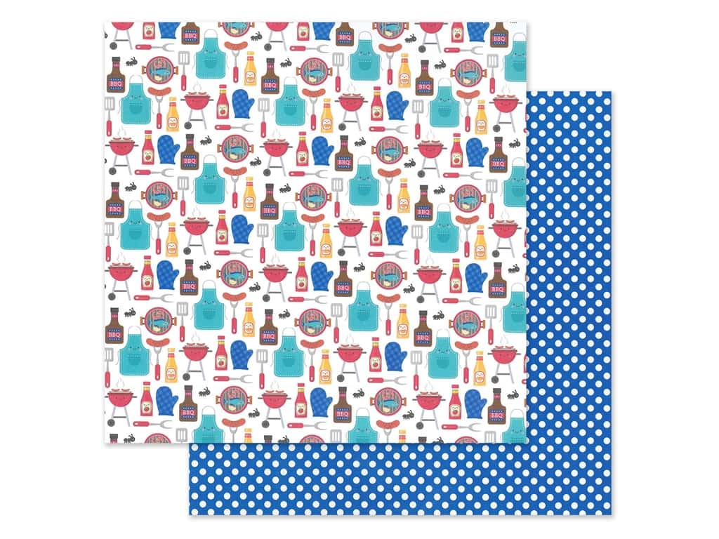 """Doodlebug Collection Bar-B Cute Paper 12""""x 12"""" Picnic In The Park (25 pieces)"""