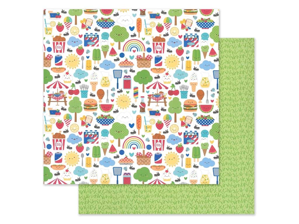 """Doodlebug Collection Bar-B Cute Paper 12""""x 12"""" (25 pieces)"""