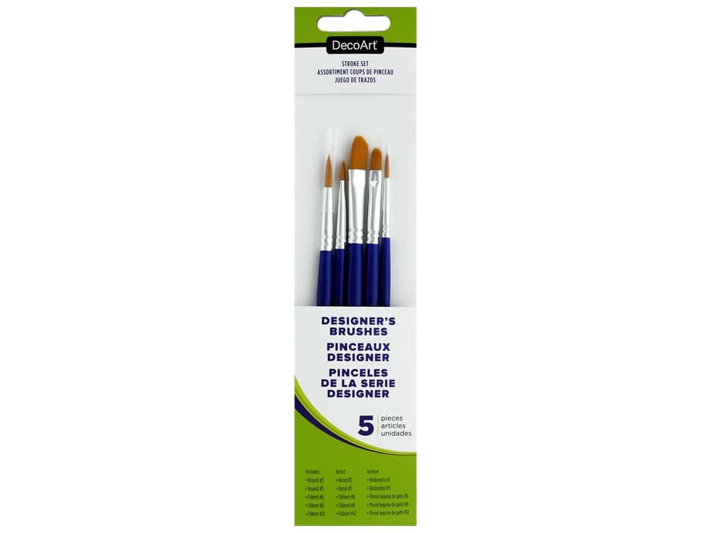DecoArt Designer's Brush Set 5 pc. Stroke