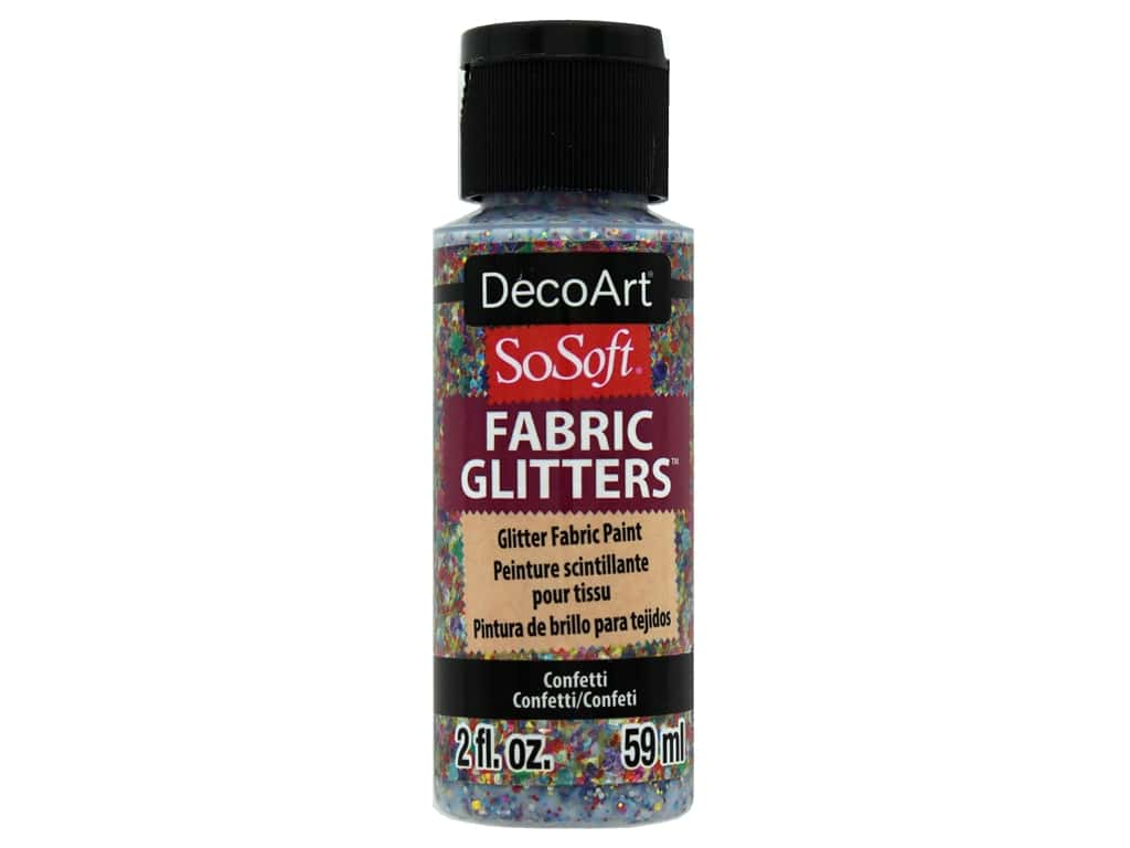 DecoArt SoSoft Fabric Paint 2oz Glitter Confetti