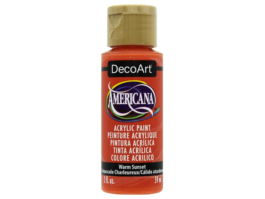 DecoArt Americana Acrylic Paint 2oz Warm Sunset