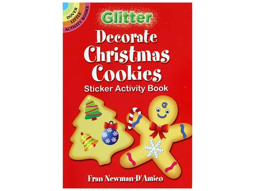Dover Publications Little Glitter Decorate Christmas Cookies Sticker Activity Book
