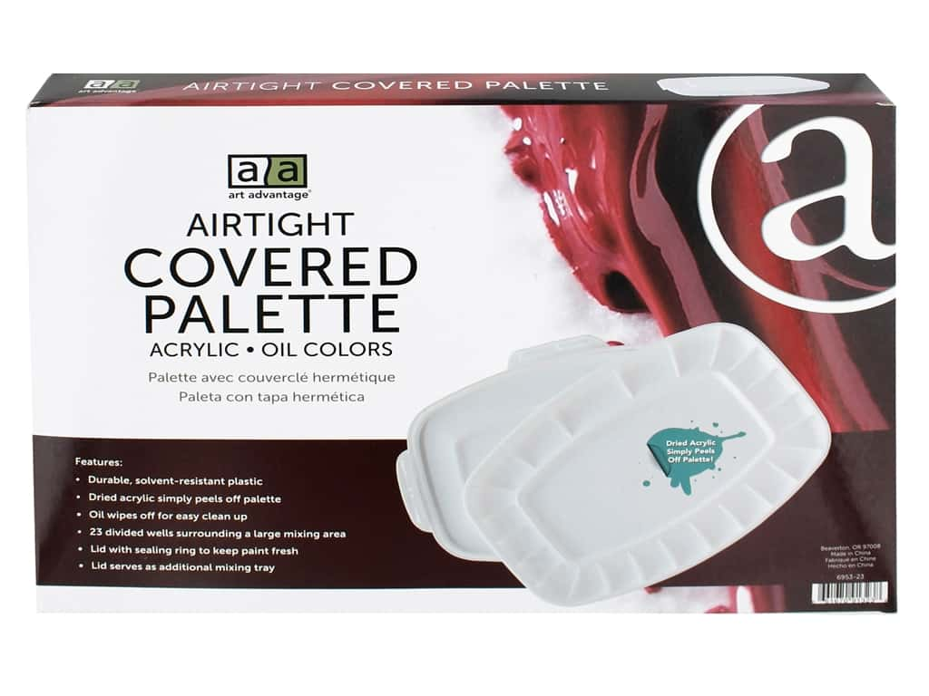 Art Advantage Airtight Covered Palette - 23 Well