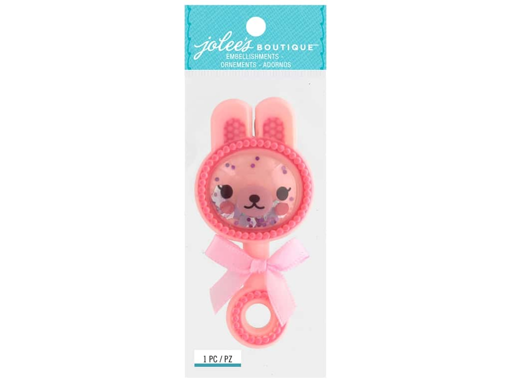 EK Jolee's Boutique Small Baby Girl Rattle