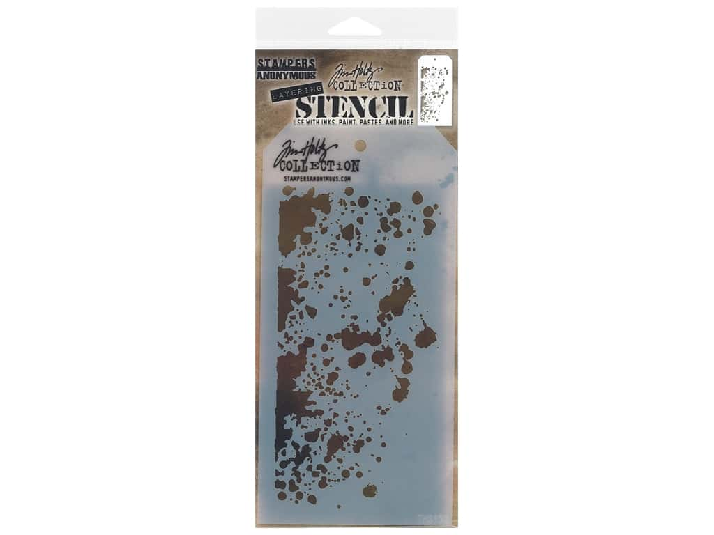Stampers Anonymous Layering Stencil Tim Holtz Grime