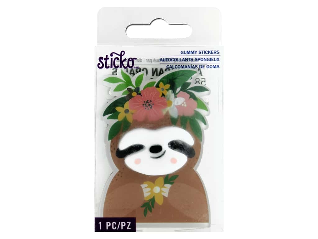 Sticko Gummy Stickers - Floral Animal
