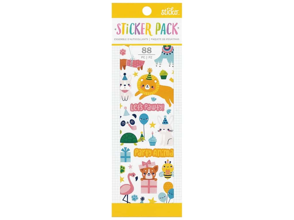 EK Sticko Stickers Pack Party Animal