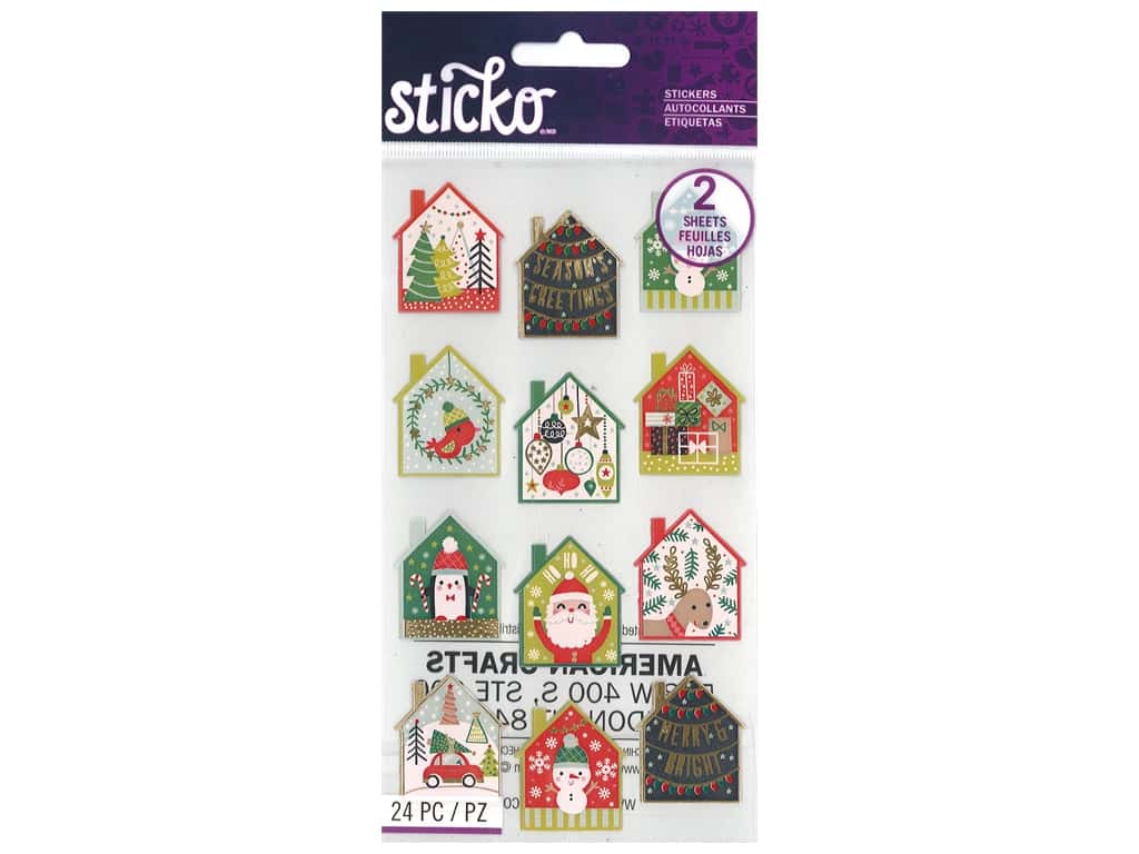Sticko Stickers - Holiday Scene Gold Foil