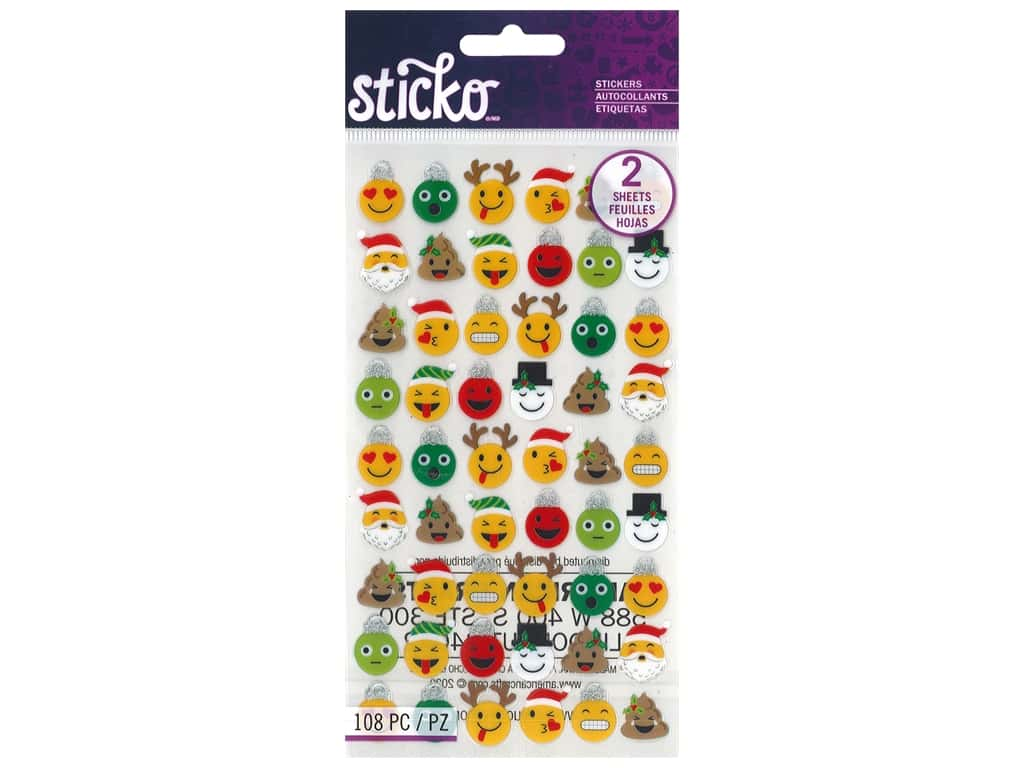 EK Sticko Stickers Holiday Emojis
