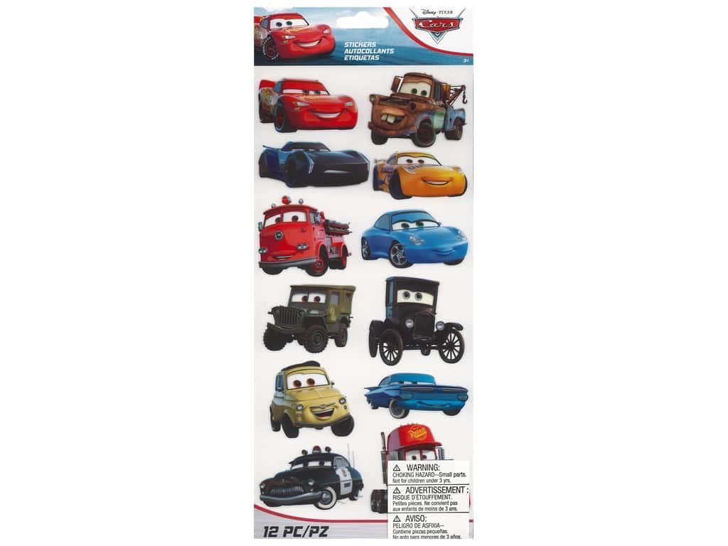 EK Disney Sticker Large Cars