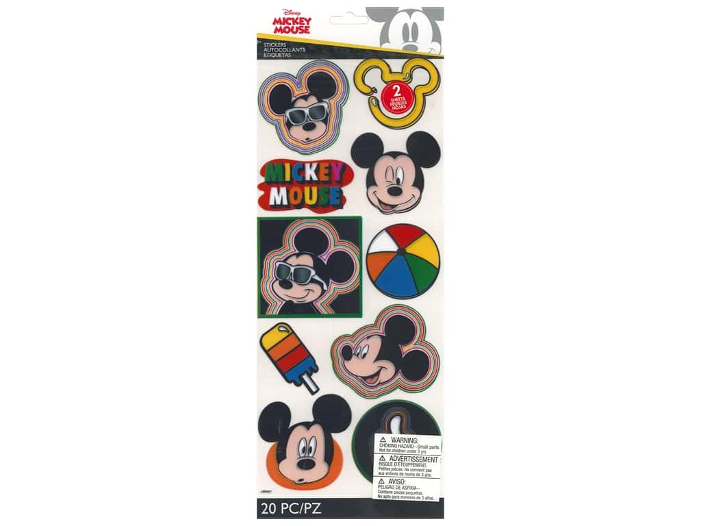 EK Disney Sticker Specialty Mickey Head Badges
