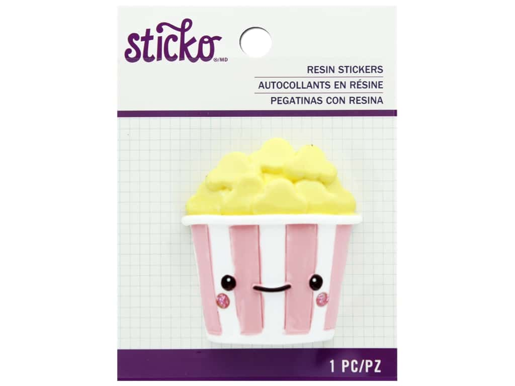 EK Sticko Stickers Resin Large Painted Popcorn