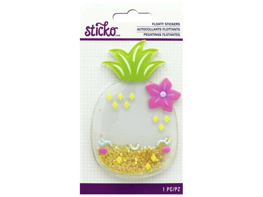 EK Sticko Stickers 3D Floaty Cute Pineapple