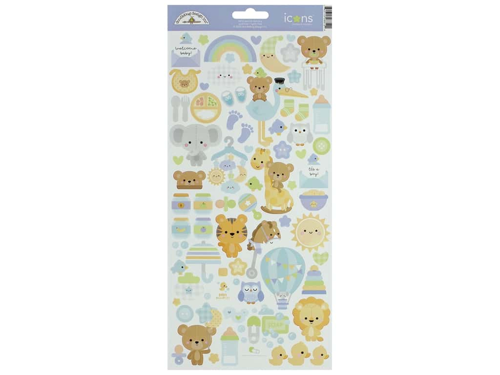 Doodlebug Collection Special Delivery Sticker Icons