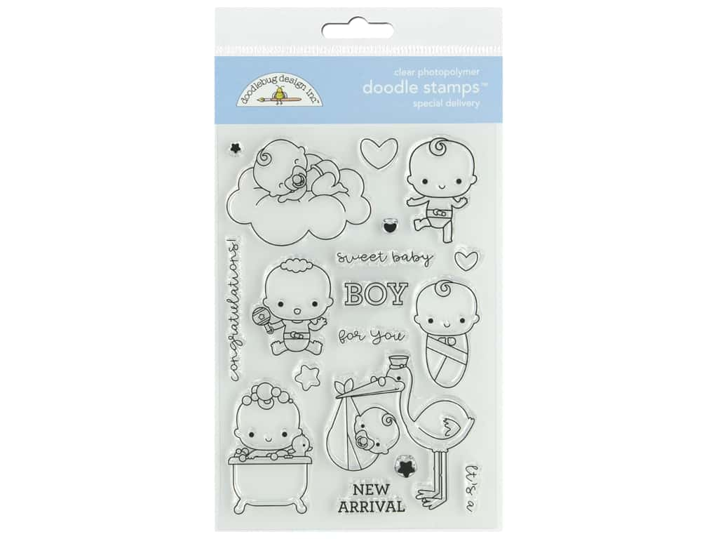 Doodlebug Collection Special Delivery Doodle Stamps Special Delivery