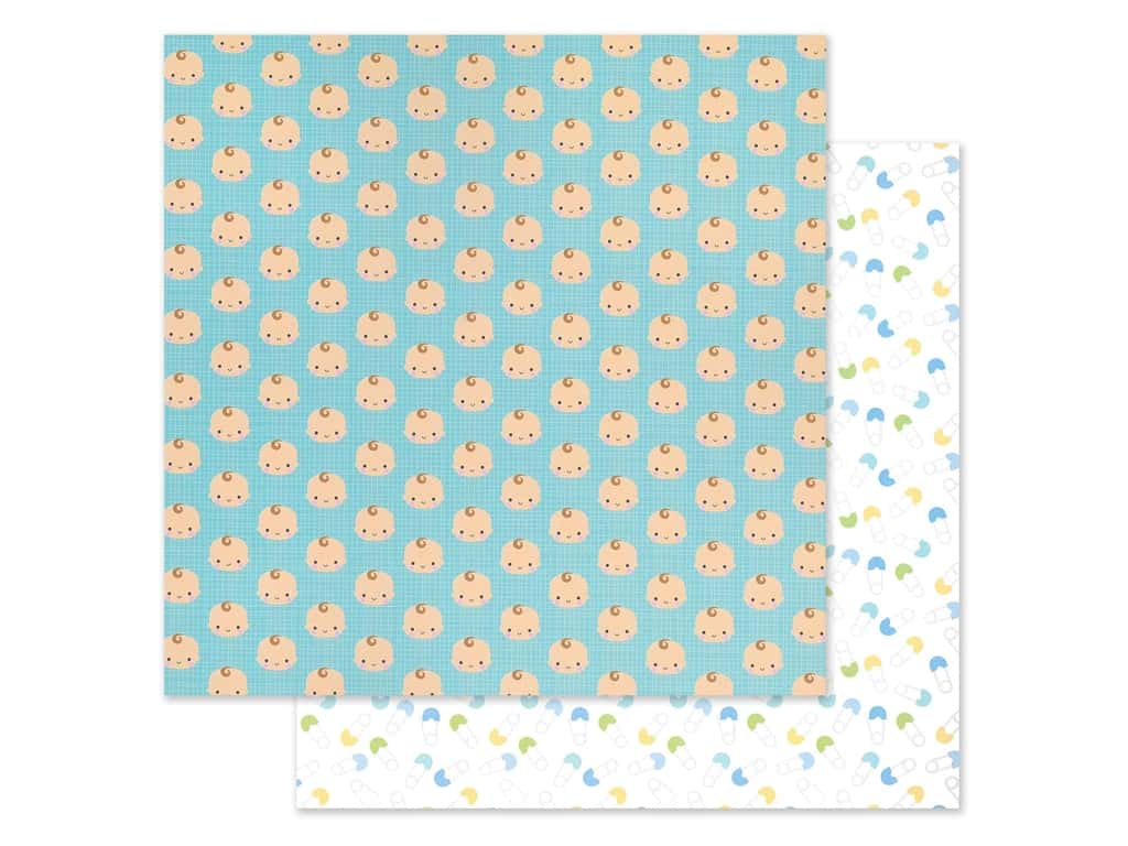 """Doodlebug Collection Special Delivery Paper 12""""x 12"""" Baby Boy (25 pieces)"""