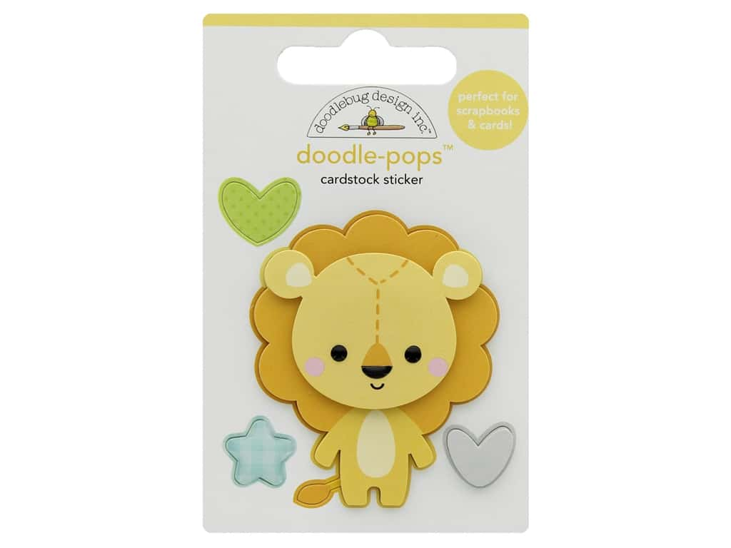 Doodlebug Collection Special Delivery Doodle Pops Lovable Lion