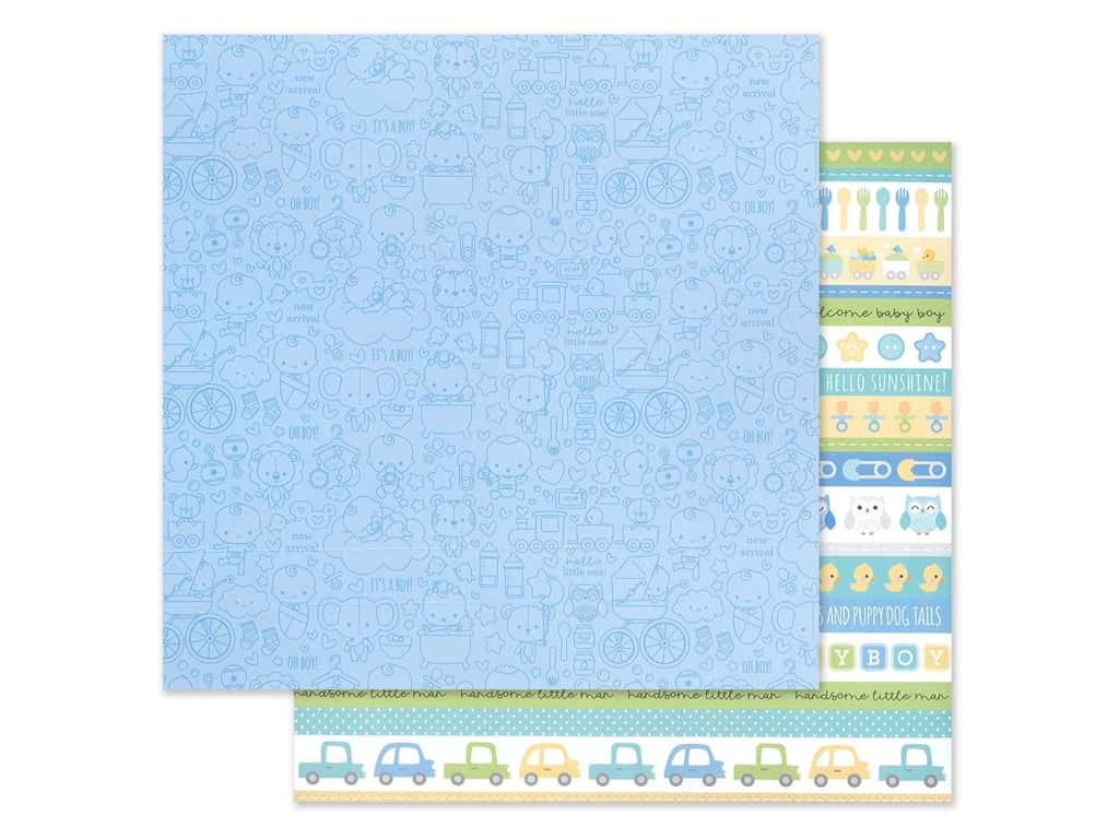 "Doodlebug Collection Special Delivery Paper 12""x 12"" It's A Boy! (25 pieces)"