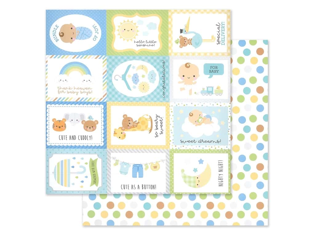 """Doodlebug Collection Special Delivery Paper 12""""x 12"""" Play Time (25 pieces)"""