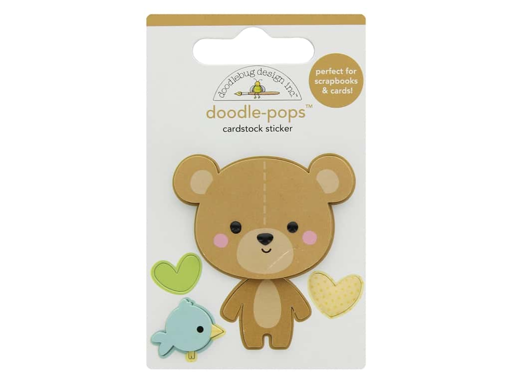 Doodlebug Collection Special Delivery Doodle Pops Bear Hug