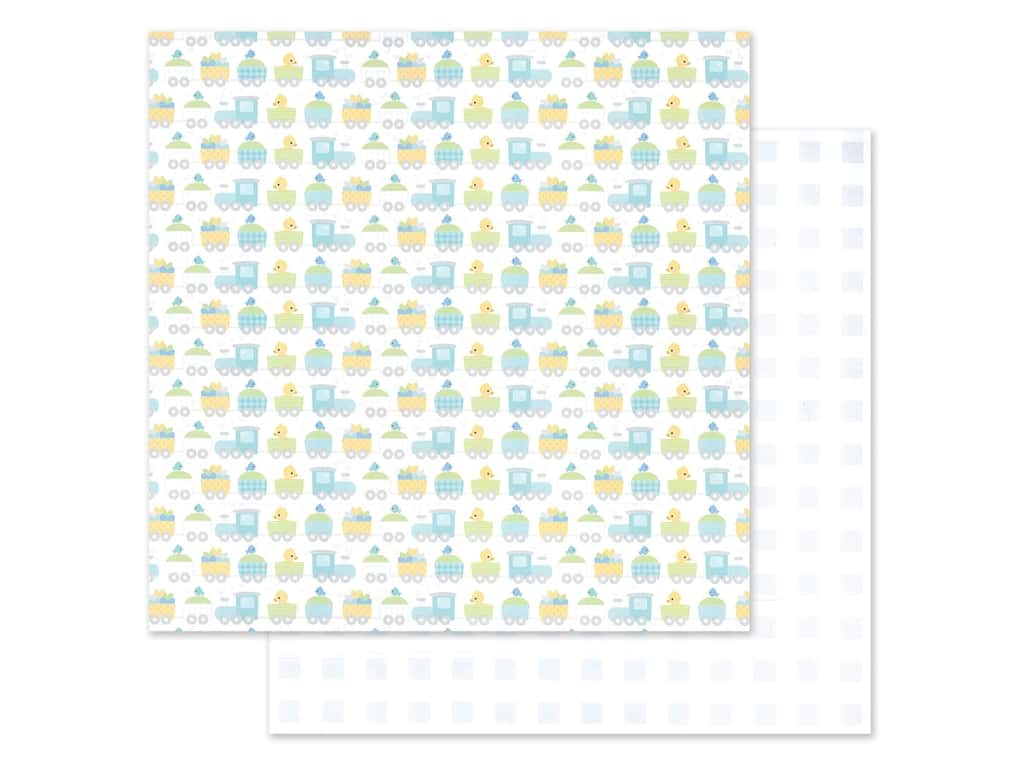 """Doodlebug Collection Special Delivery Paper 12""""x 12"""" Choo Choo (25 pieces)"""