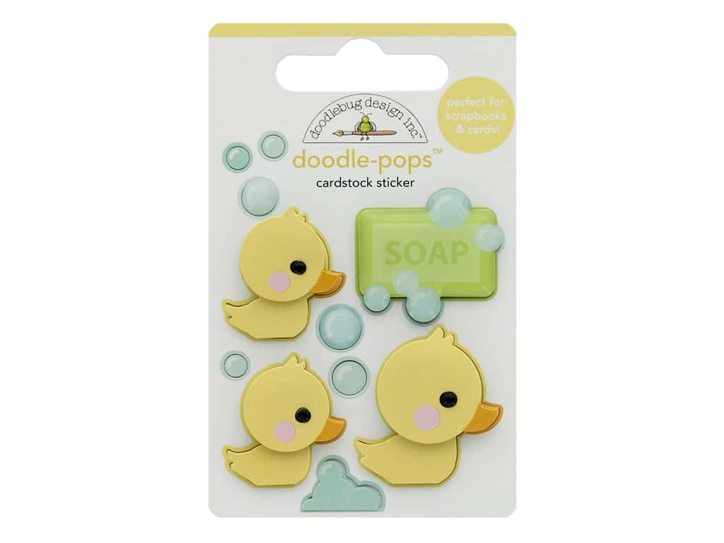Doodlebug Collection Special Delivery Doodle Pops Rubber Ducky