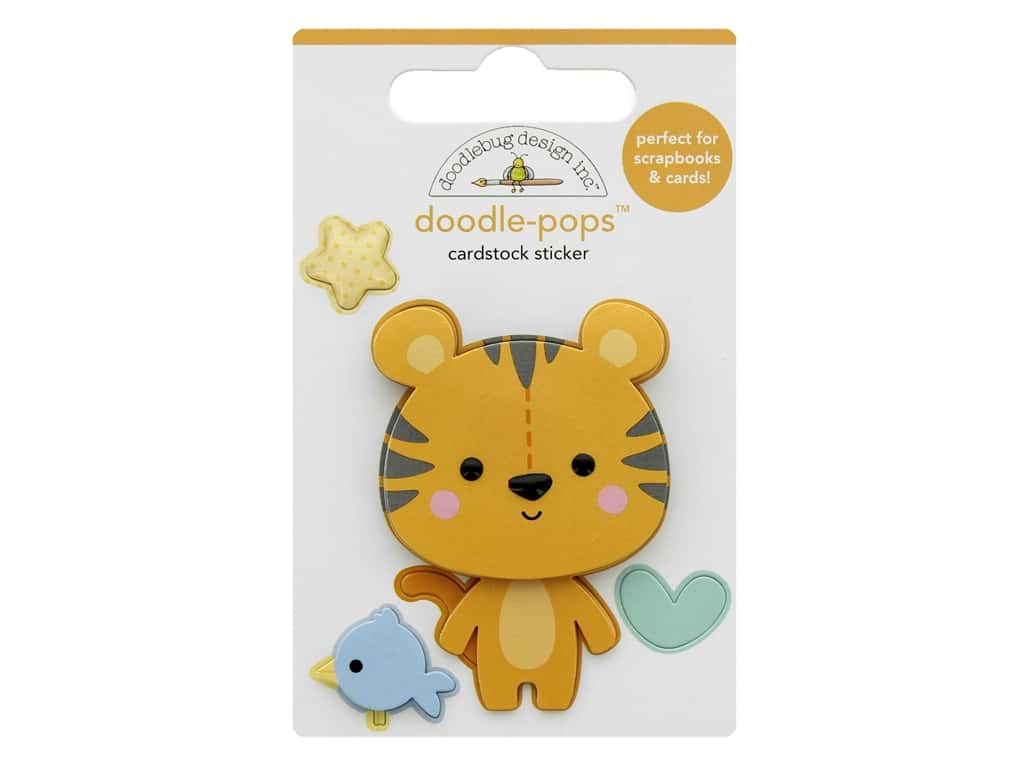 Doodlebug Collection Special Delivery Doodle Pops Cuddly Cub