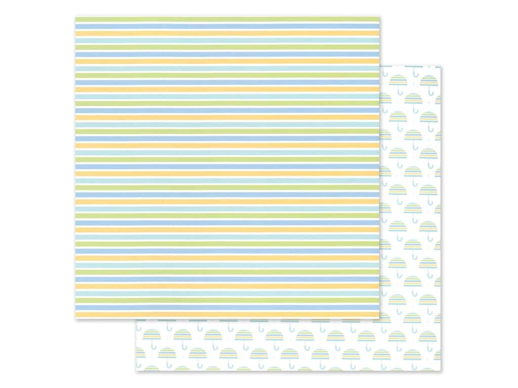 """Doodlebug Collection Special Delivery Paper 12""""x 12"""" Nursery Stripes (25 pieces)"""