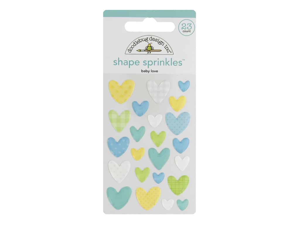 Doodlebug Collection Special Delivery Sprinkles Shape Baby Love