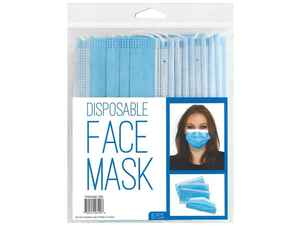 PA Essentials Disposable Face Mask 8 pc.
