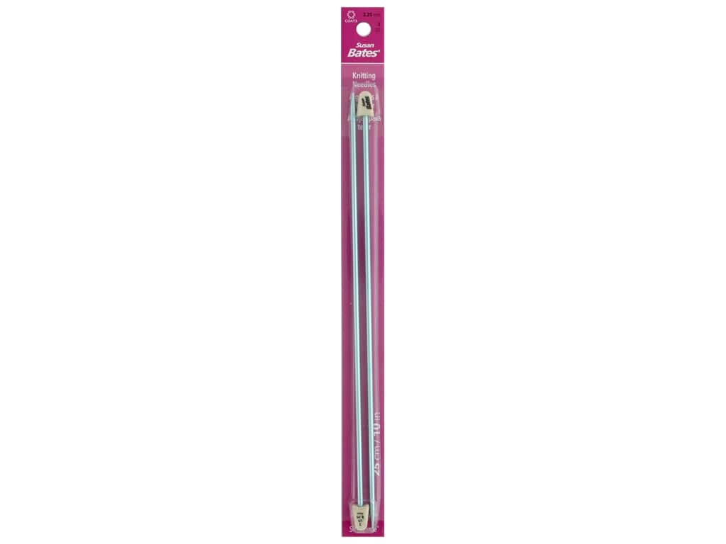 Susan Bates Silvalume Single Point Knitting Needles 10 in. Size 3 (3.25 mm)