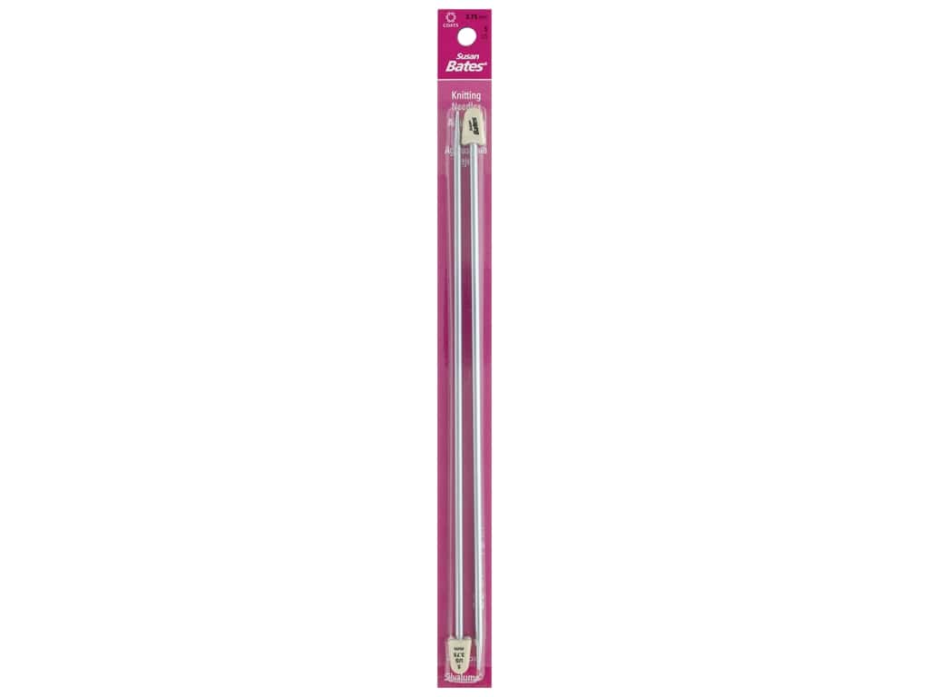 Susan Bates Silvalume Single Point Knitting Needles 10 in. Size 5 (3.75 mm)