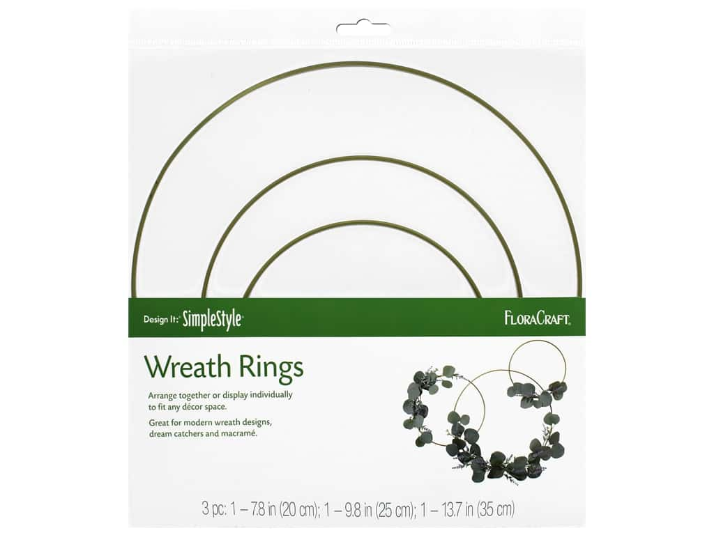 FloraCraft Wire Wreath Form Ring Set 3pc