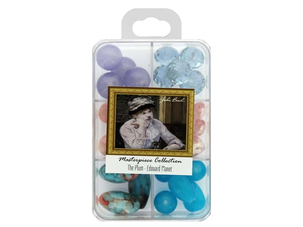 John Bead Glass Bead Masterpiece Collection Box Mix The Plum - Edouard Manet