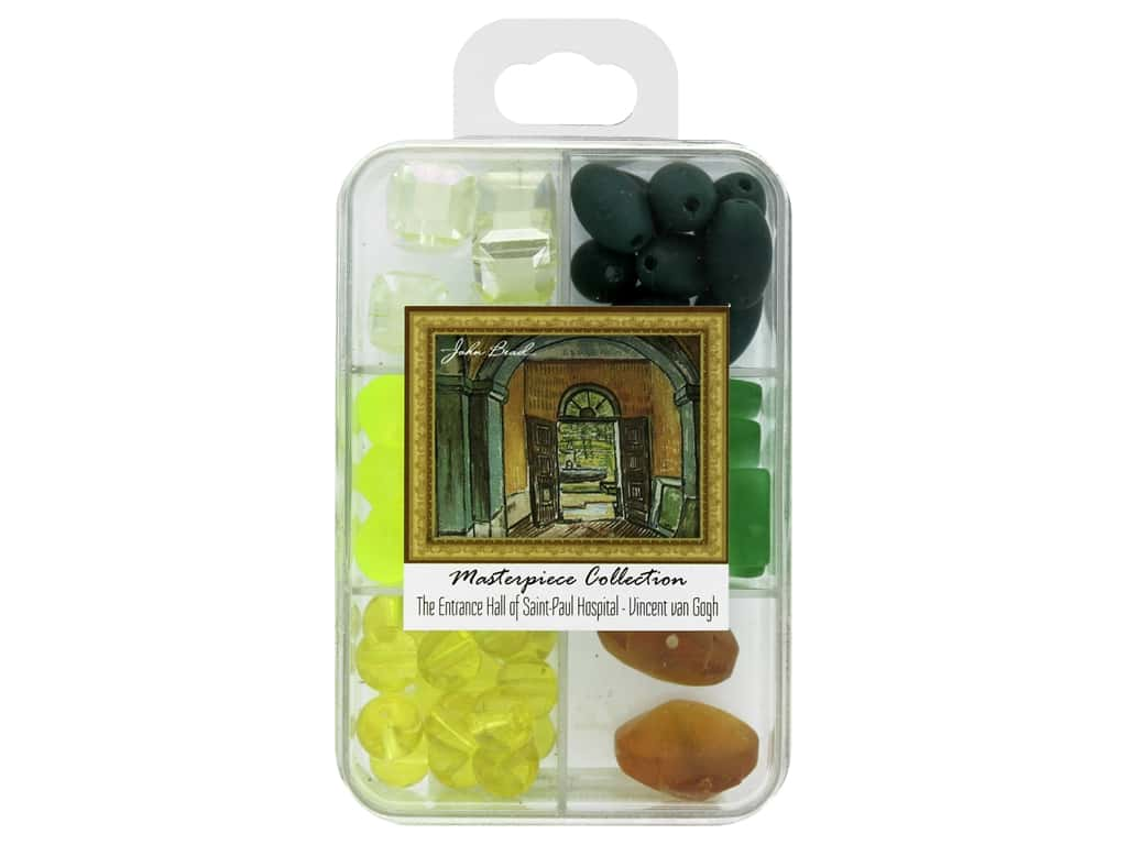 John Bead Glass Bead Masterpiece Collection Box Mix The Entrance Hall of Saint Paul Hospital - Vincent van Gogh