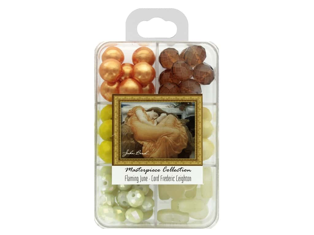 John Bead Glass Bead Masterpiece Collection Box Mix Flaming June - Lord Frederic Leighton