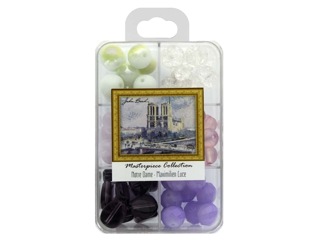 John Bead Glass Bead Masterpiece Collection Box Mix Notre Dame - Maximilien Luce