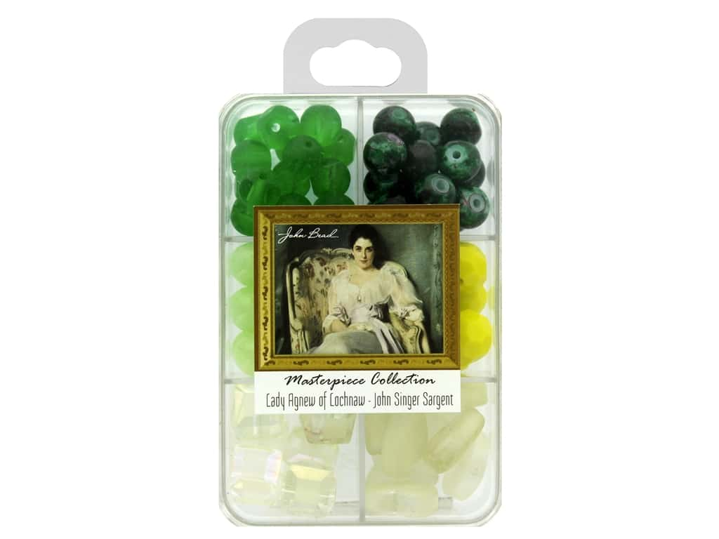 John Bead Glass Bead Masterpiece Collection Box Mix Lady Agnew of Lochnaw - John Singer Sargent