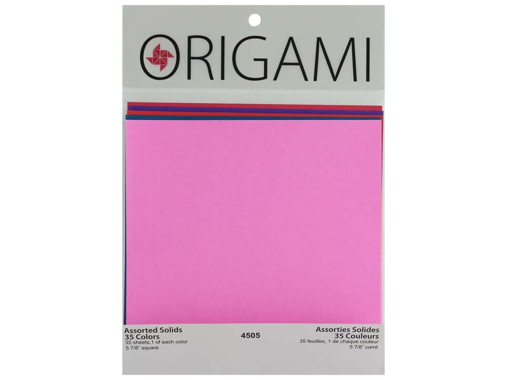 "Yasutomo Origami Paper 5.88"" Assorted Solid 35pc"
