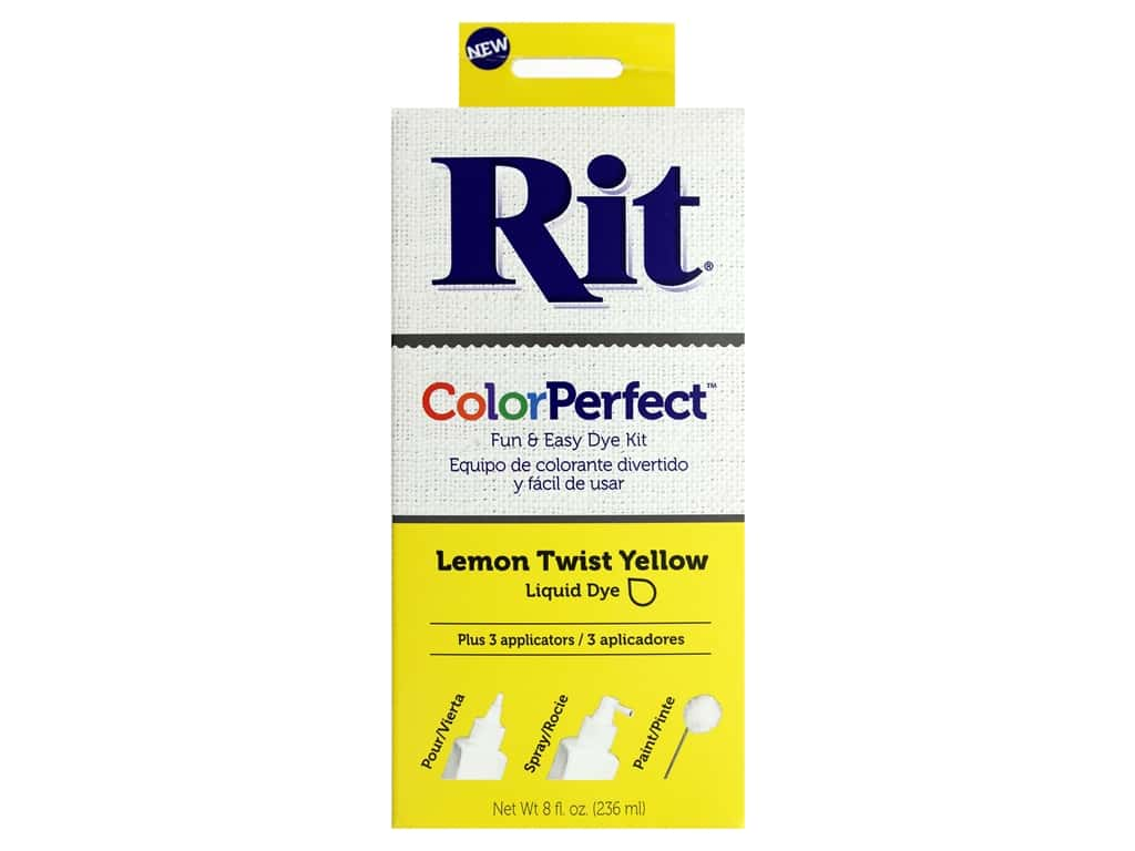 Rit Dye Kit Color Perfect Lemon Twist 8oz