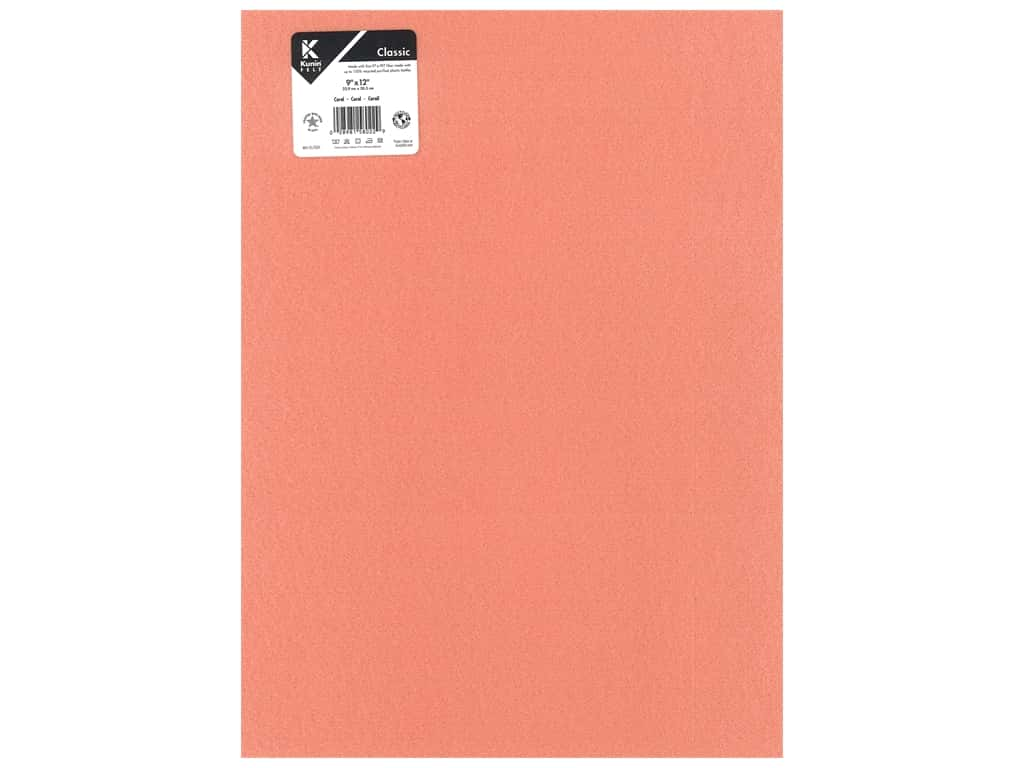 Kunin Felt 9 x 12 in. Coral (24 pieces)