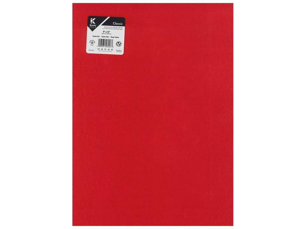 Kunin Felt 9 x 12 in. Tomato Red (24 pieces)