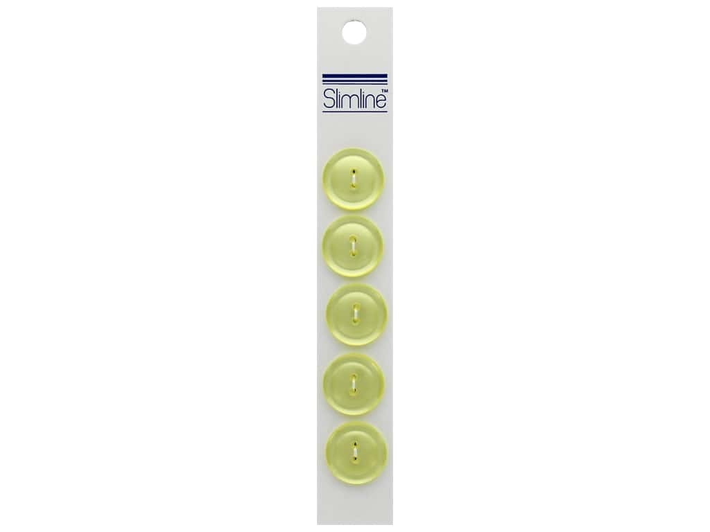 Slimline 2 Hole Buttons 3/4 in. Yellow 5 pc.