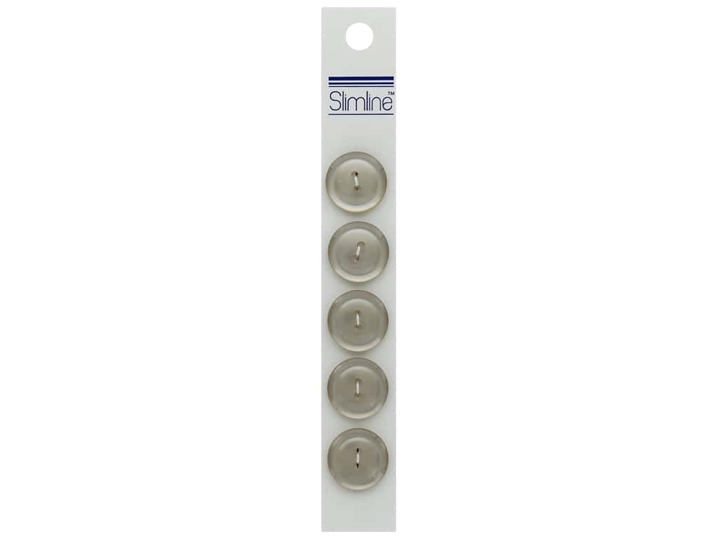 Slimline 2 Hole Buttons 3/4 in. Beige 5 pc.