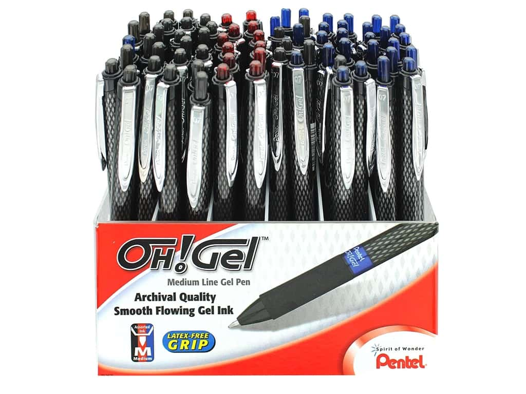 Pentel Oh! Gel Pen Assortment 72 pc.