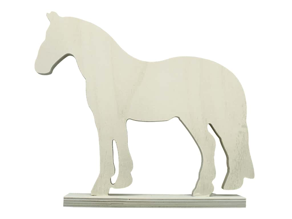 "Sierra Pacific Crafts Wood Horse Plywood 11""x 1.5""x 9.5"" Unfinished"